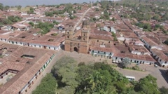 Colonial down town in Colombia Stock Footage