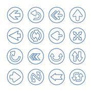 Simplicity arrows set button Stock Illustration