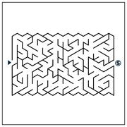 Modern attractive maze Stock Illustration
