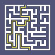 trendy square labyrinth - stock illustration