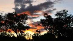 Australia Murray River at Albury sunset glow in clouds Stock Footage