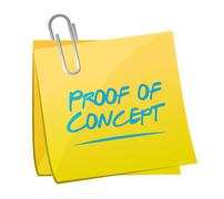 Proof of concept memo post sign concept Stock Illustration