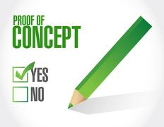 Proof of concept approval sign concept Stock Illustration