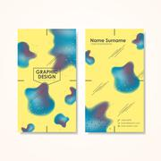 creativity business card template - stock illustration
