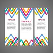 colorful triangle pattern background advertising banner - stock illustration