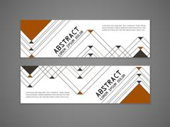 Modern triangle pattern background advertising banner Piirros