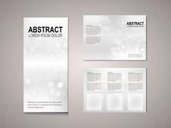 sparkling background tri fold brochure template - stock illustration