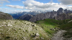 View from Tre Cime Park Stock Footage