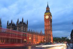Big Ben and house of parliament at twilight, London, UK. Stock Photos