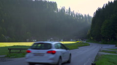 Sunrise in the Austrian village Ratten that is placed in the Alps. - stock footage