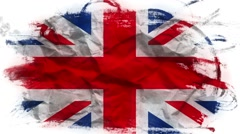 Flag of Great Britain, loopable animation - stock footage