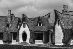 Clay Castle, Fairy Valley, Romania - 27 july 2016 - The pension made of clay  Stock Photos