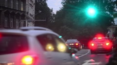Night traffic in city lights Stock Footage