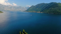 Montenegro, bay air shooting Stock Footage