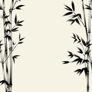 Chinese bamboo design Stock Illustration