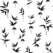 Seamless wallpaper of bamboo - stock illustration