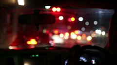Stop car at trafic light Stock Footage