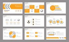 Set of presentation template.Use in annual report, corporate, flyer, marketin Stock Illustration