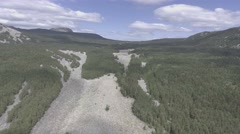 The stone river in the Urals Stock Footage