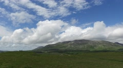 hills and plain of connemara in ireland - stock footage