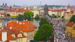 Prague, Czech Republic, views and architecture of  old town. Stock Footage