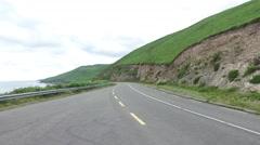 Asphalt road at wild atlantic way in ireland 71 Stock Footage
