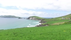 view to ocean at wild atlantic way in ireland - stock footage