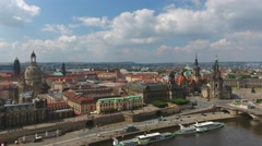 Dresden, Saxony. Beautiful city aerial view - stock footage