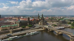 Aerial view of Dresden, Saxony, Germany - stock footage
