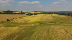 Countryside of Saxony, aerial view Stock Footage