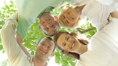 Family members hug each other. Stock Footage