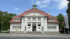 August 2, 2016, the Kunstverein Kärnten gallery in Klagenfurt Stock Footage