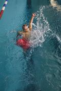 Quadriplegic Professional Swimmer Stock Photos