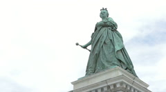 The statue of the Archduchess Maria Theresa of Austria in Klagenfurt Stock Footage