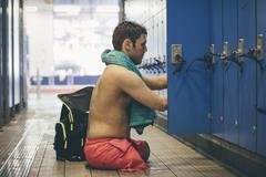 Completed Swimming Session Stock Photos