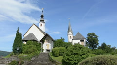 the sanctuary of Maria Worth, Carinthia, Austria Stock Footage