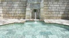 "A fountain in ""Schiller"" park in Klagenfurt Stock Footage"
