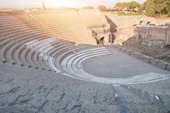 Pompeii ancient archeological site Stock Photos