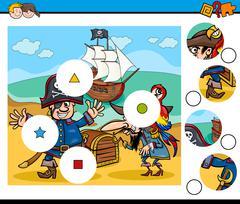 Educational activity for children Stock Illustration