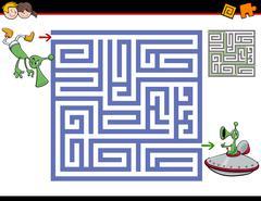 Maze activity for kids Stock Illustration