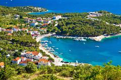 Aerial view of adriatic coast Stock Photos