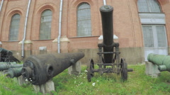 Artillery Museum and exhibits - stock footage