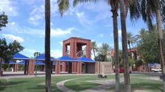 Typical Arizona Suburb Public Park Entrance Establishing Shot Stock Footage
