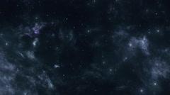 Dark Space Nebula and Bright Stars Stock Footage