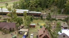 Travel of a passenger train with carriages Stock Footage