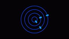 Loading screen circular, blue on black background - 4k 30fps loop - video tex Stock Footage