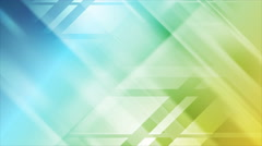 Blue and yellow tech geometric animated background - stock footage