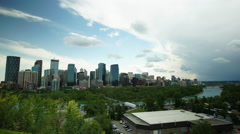 Timelapse Clouds build over Calgary - stock footage