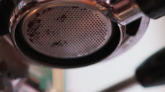 Espresso preparing with professional bottomless filter Stock Footage