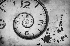 Vintage Rusty clock swirl Stock Illustration